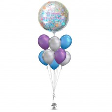 Birthday Silver Balloon Bouquet