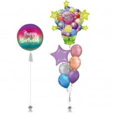 Birthday Pop Balloon Bouquet