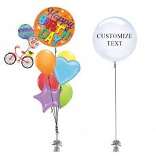 Bicycle Bday Balloon