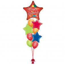 Happy Birthday Streamer Star