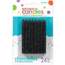 Black Spiral Glitter Candles
