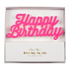 Happy Birthday Candle Pink