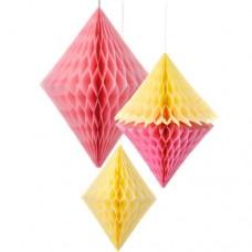 Honeycomb Paper Diamonds