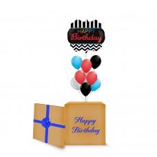 Black Chevron Birthday