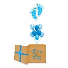 Blue Baby Feet Surprise Box