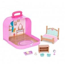Li'l Woodzeez Travel Suitcase Bedroom Playset in Carry Case