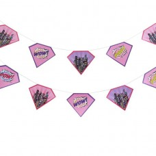 Pink Girl Paper Bunting