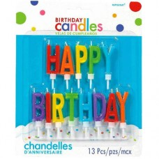 Primary Happy Birthday Letter Candles