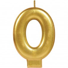 Numerical #0 Gold Candle