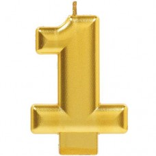 Numeral #1 Gold Candle