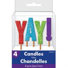 YAY! Glitter Pick Candles