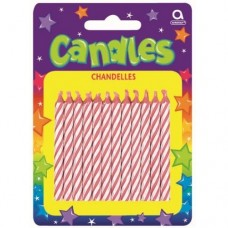 Pink Candy Stripe Candles