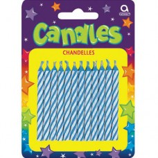 Blue Candy Stripe Candles