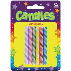 Large Candy Cane Candles