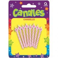 Pink Spirals Candles