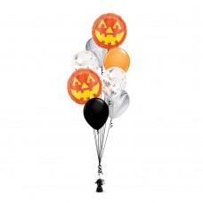 Pumpkin Face Balloons Set 2