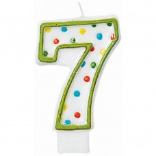Polka Dots Number 7 Green