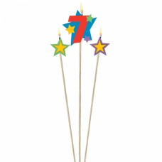 Number 7 Decor Pick Candle