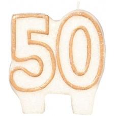 Number 50 Gold Glitter