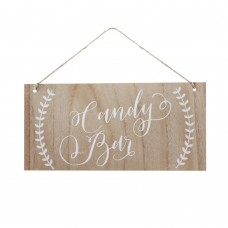 Candy Bar Boho Wooden Sign