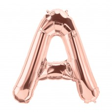 Large Shape Letter A Rose Gold