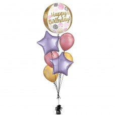 Birthday Gold Balloon