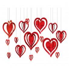 3D Heart Hanging Decoration