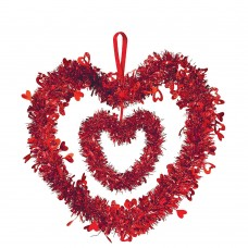 Double Heart Tinsel