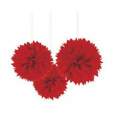 Red Fluffy Decorations
