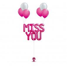 MISS YOU Balloon Bouquet