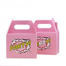 Pop Art Superhero Pink Boxes