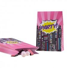 Pop Art Superhero Pink Party Bags