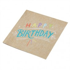 Happy Birthday Kraft-Paper Napkins