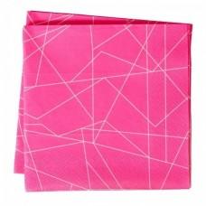 Neon Pink Geometric Napkins