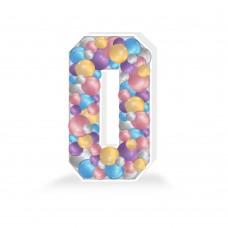 Number 0 Balloon Mosaic