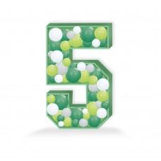 Number 5 Balloon Mosaic