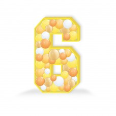 Number 6 Balloon Mosaic