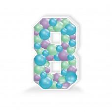 Number 8 Balloon Mosaic