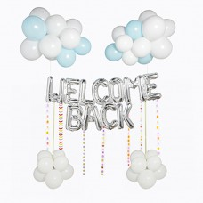 Welcome back balloons with tassels