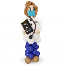 Lady Doctor Sculpture Balloon