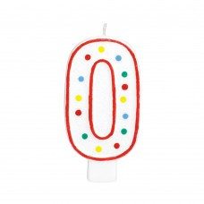 Party Dot Number 0 Candle