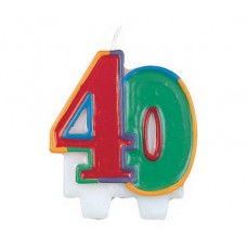 Number 40 Flat Molded