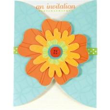 Flower Fun Large Invitations