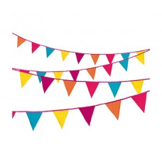 Decadent Fiesta Fabric Bunting