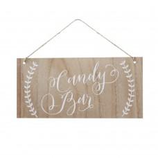 Candy Bar Boho Wooden Sign