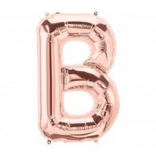 Large Shape Letter B Rose Gold