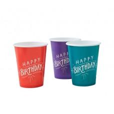 Happy Birthday Kraft Cups
