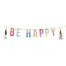 BE HAPPY Party Garland