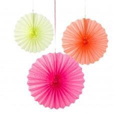 Fluorescent Paper Fans