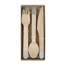 Wooden Cutlery Silver